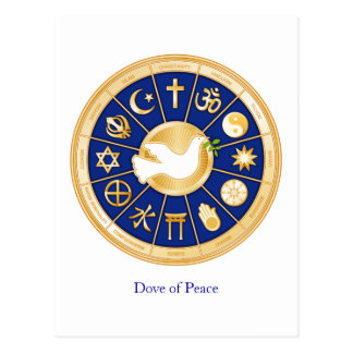 Colombe de paix carte postale