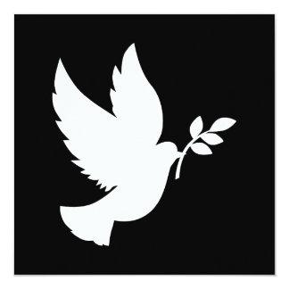 Colombe de paix invitations personnalisées