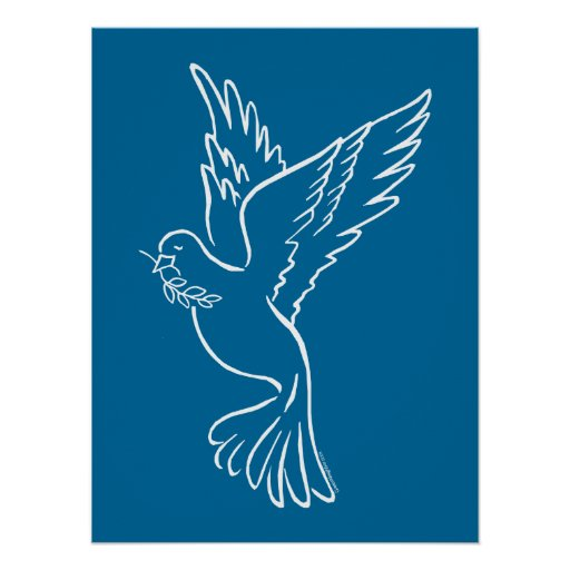 Colombe de paix poster