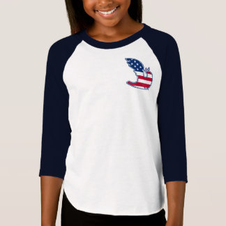Colombe de paix. T-shirts patriotique de