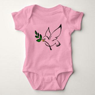 Colombe d'équipement de bébé de paix t-shirts