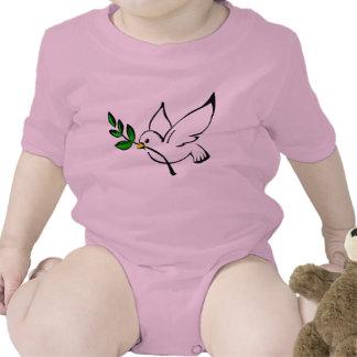 Colombe d'équipement de bébé de paix bodies pour bébé