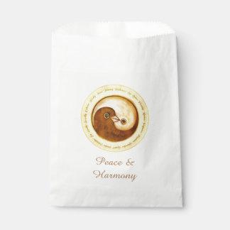 Colombe Harmomy de YinYang d'or de SACS de FAVEUR