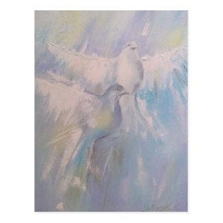colombes de paix carte postale