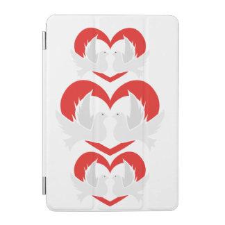 Colombes de paix d'illustration avec le coeur protection iPad mini