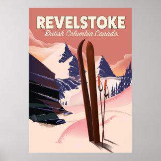 Colombie-Britannique de Revelstoke, affiche de ski Poster