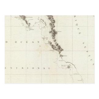Colombie-Britannique, Washington, et l'Orégon Carte Postale