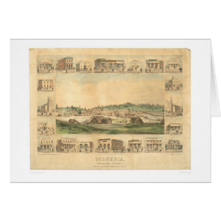 Colombie, carte panoramique 1855 (0441A) de CA