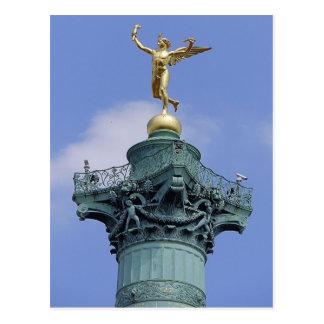 Colonne, Place de la Bastill, Paris Carte Postale