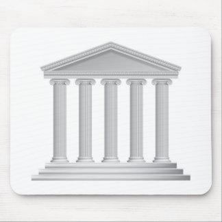 Colonnes grecques ou romaines de temple tapis de souris