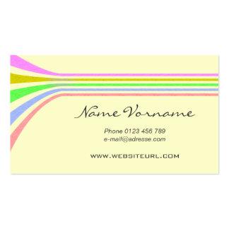 color lignes carte de visite standard