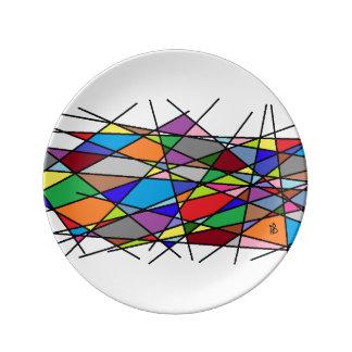 color line assiette en porcelaine