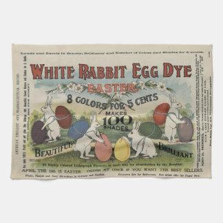 Colorant blanc d'oeufs de lapin serviettes éponge