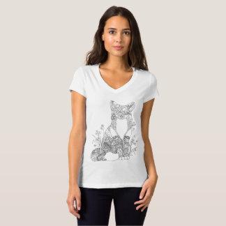Coloration adulte d'art animal abstrait colorable t-shirt