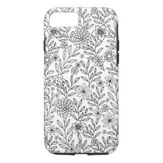 Coloration florale de griffonnages coque iPhone 7