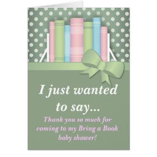 Coloré apportez un carte de remerciements de baby