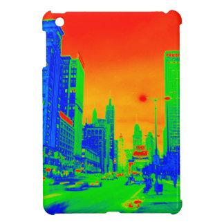 Coloré au néon de la nuit 1967 d'avenue de Chicago Coque Pour iPad Mini