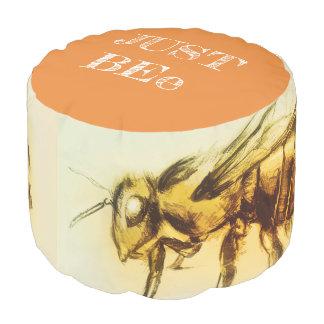 Coloré illustré autour du pouf - abeille