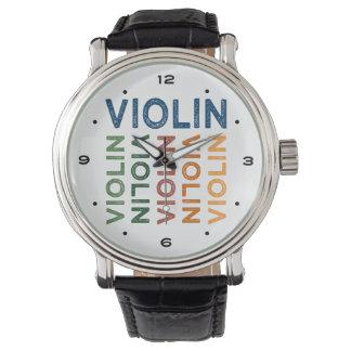 Coloré mignon de violon montres bracelet