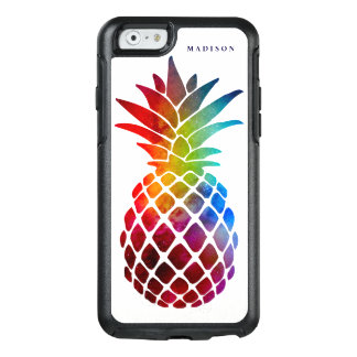 Coloré moderne d'ananas tropical de l'espace coque OtterBox iPhone 6/6s