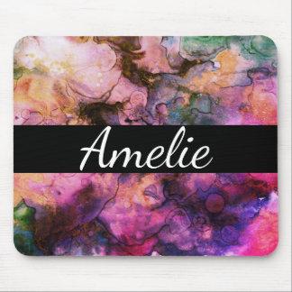 Coloré, peinture abstraite de grunge tapis de souris