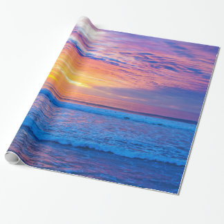 colores de coucher du soleil papier cadeau