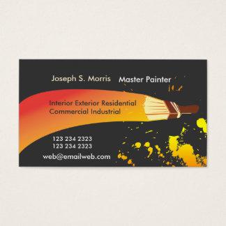 Colorez la brosse artistique de peintre de Chambre Cartes De Visite