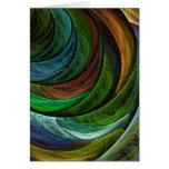 Colorez la carte de voeux d'art abstrait de gloire