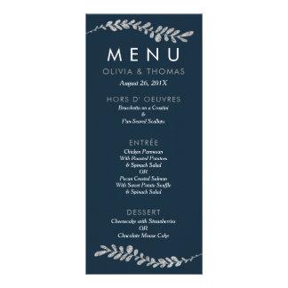 Colorez la carte Editable de menu de mariage de Carte Double En Couleur
