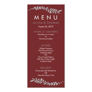 Colorez la carte Editable de menu de mariage de Modèle De Carte Double