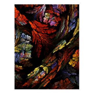 Colorez la carte postale d'art abstrait d'harmonie