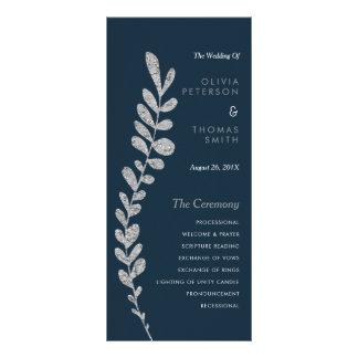 Colorez la feuille argentée Editable épousant Carte Double En Couleur