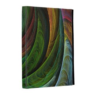 Colorez l'art abstrait de gloire étuis iPad folio