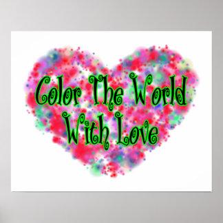 Colorez le monde avec amour poster