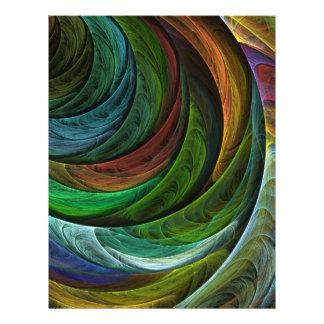 Colorez l'insecte d'art abstrait de gloire prospectus 21,6 cm x 24,94 cm