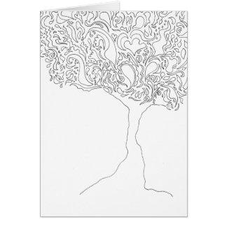 Colorez votre propre carte - arbre
