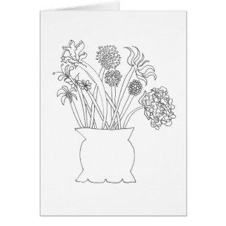 Colorez votre propre carte - bouquet