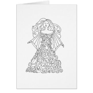 Colorez votre propre carte - robe rêveuse