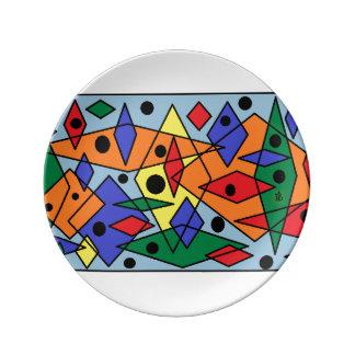colors tria assiette en porcelaine