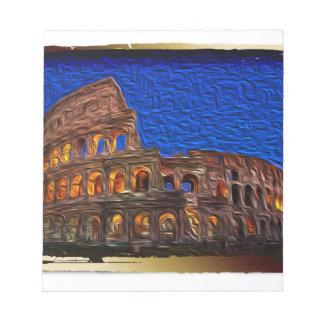 Colosseum pendant la nuit bloc-note