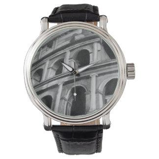 Colosseum romain avec les dessins architecturaux montres