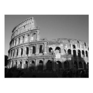 Colossium noir et blanc carte postale