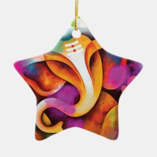 colr-ganpati2 ornement étoile en céramique