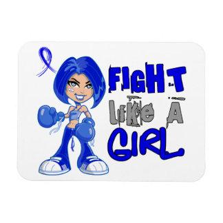 Combat comme la paralysie d un Erb de la fille 42 Magnets En Rectangle