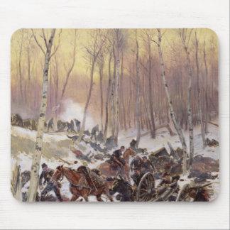 Combat d'artillerie dans un bois tapis de souris