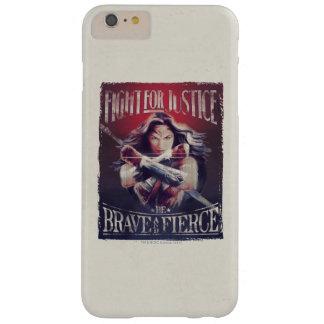 Combat de femme de merveille pour la justice coque iPhone 6 plus barely there