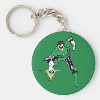 Combat vert de lanterne porte-clé rond