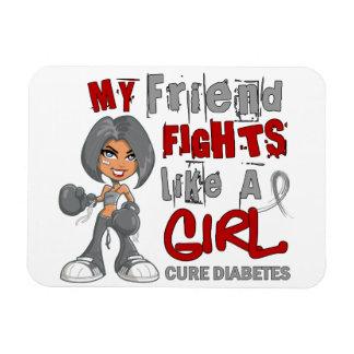 Combats d ami comme le diabète de la fille 42 9 magnet rectangulaire