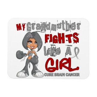 Combats de grand-mère comme le cancer du cerveau 4 magnets rectangulaires