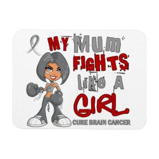 Combats de maman comme le cancer du cerveau 42 9 d magnets en rectangle